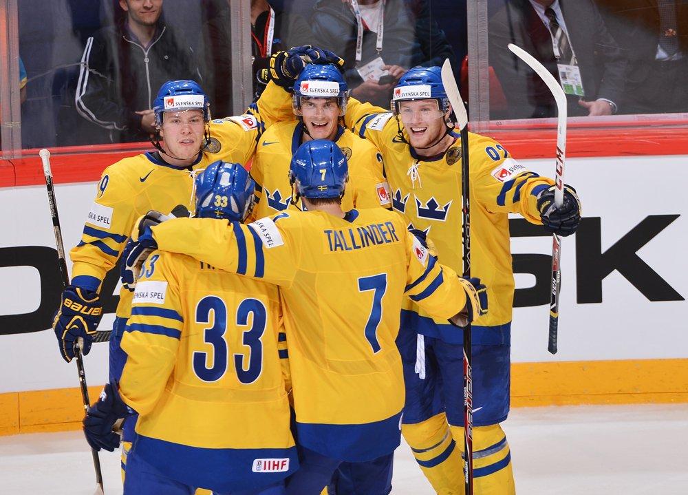 Suécia campeã mundial de hóquei no gelo (Richard Wolowicz/HHOF-IIHF Images)